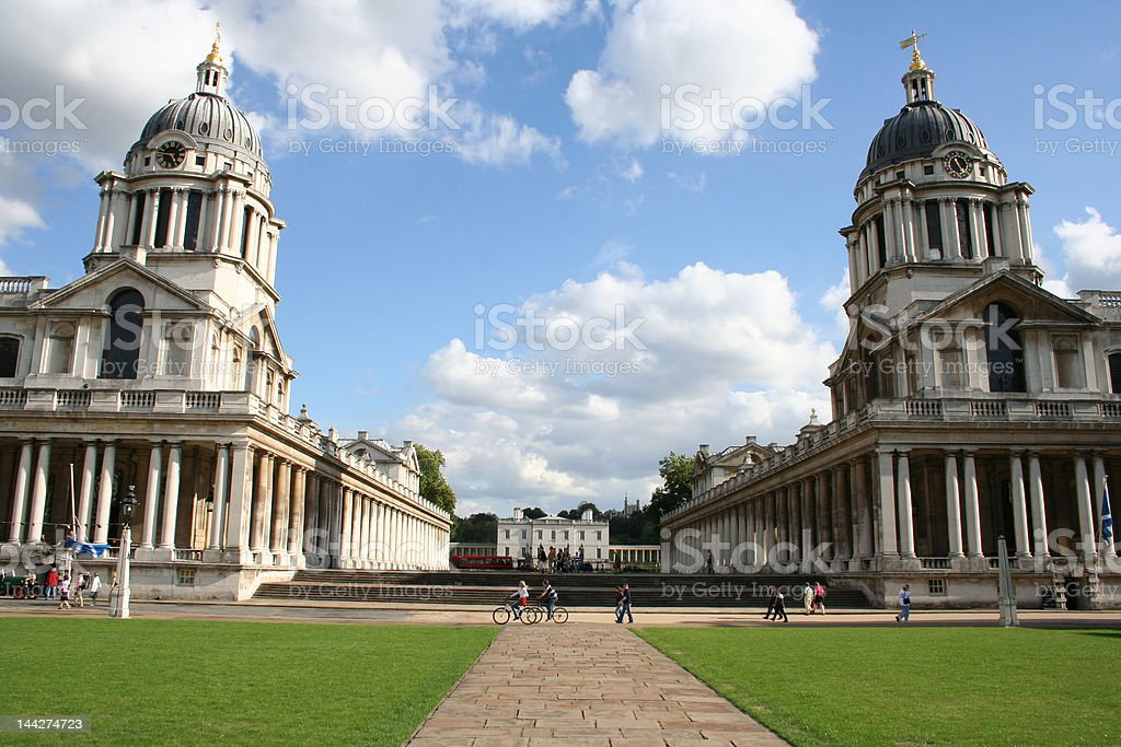 Royal naval college Greenwich stock photo