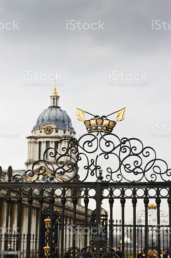 Royal Naval College, Greenwich royalty-free stock photo