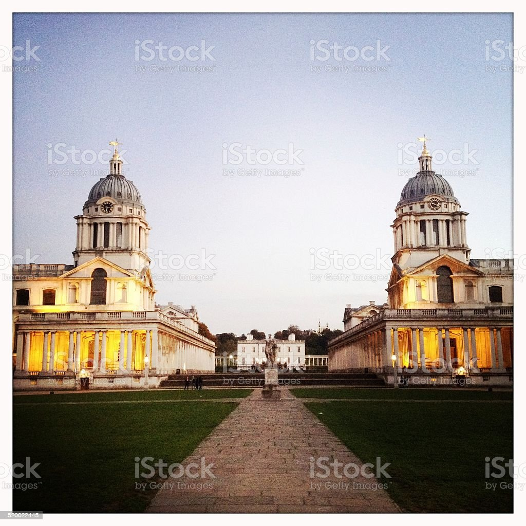 Royal Naval College, Greenwich stock photo