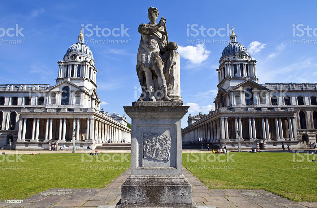Royal Naval College in Greenwich, London stock photo