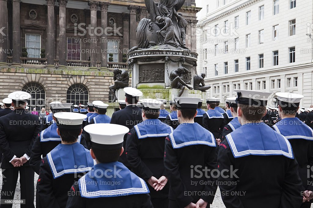 Royal Navy Sailors stock photo