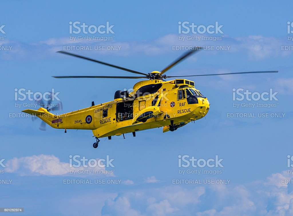 Royal Navy Sea King Helicopter stock photo
