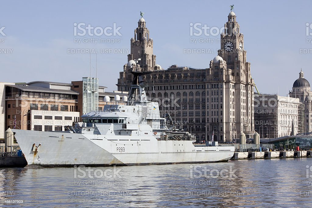 Royal Navy Ship HMS Mersey stock photo
