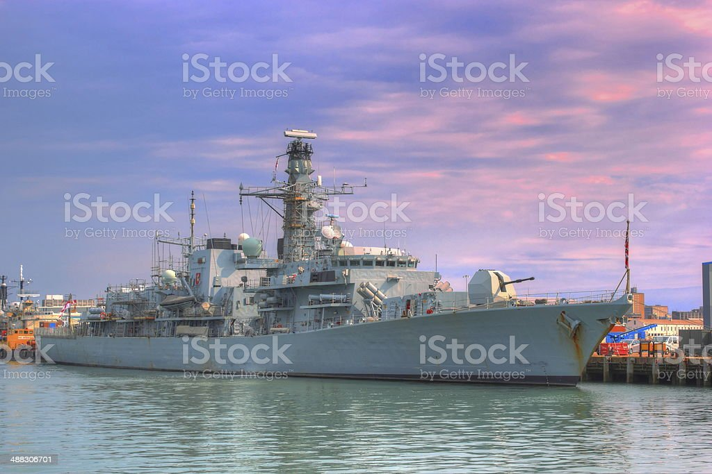 royal navy warship stock photo