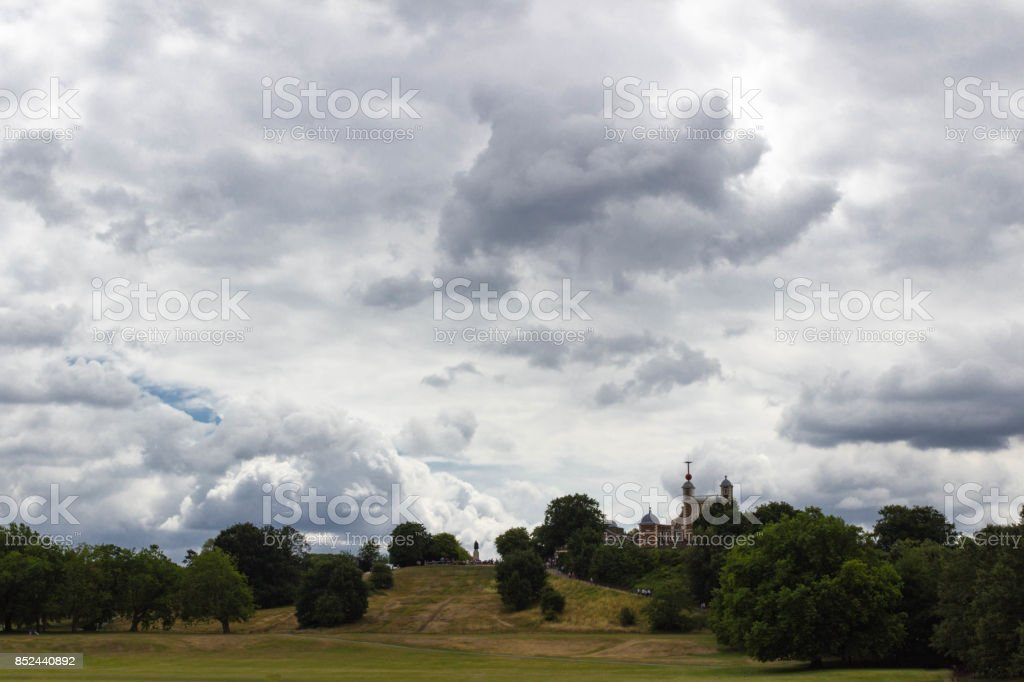 Royal Observatory from Greenwich Park stock photo