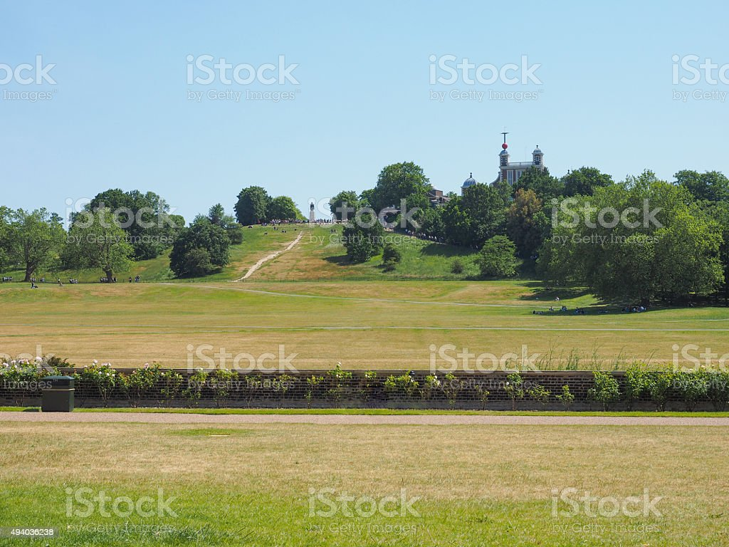 Royal Observatory hill in London stock photo