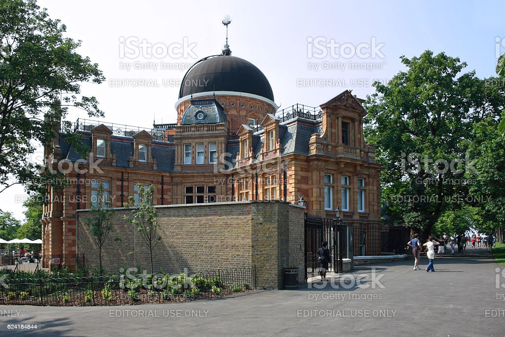 Royal Observatory in Greenwich Park stock photo