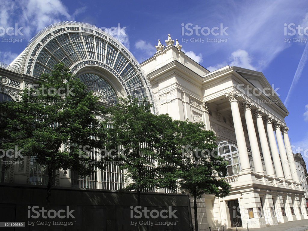 Royal Opera House and the Floral Hall Extension royalty-free stock photo