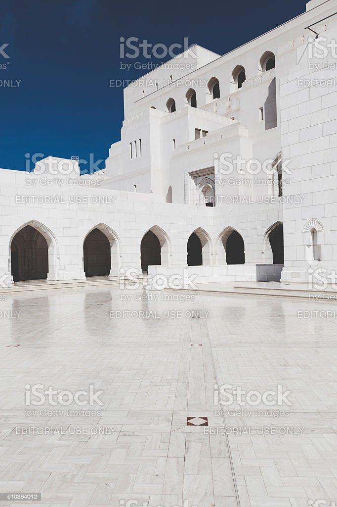 royal opera house, muscat, oman stock photo