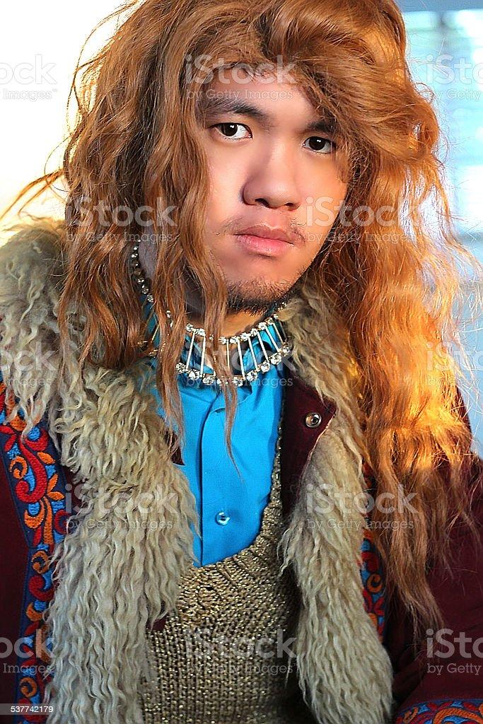 Royal Oriental man stock photo