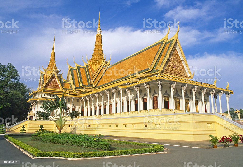 'Royal Palace aa The Throne Hall, Phnom Penh, Cambodia' stock photo
