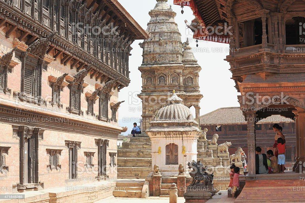 Royal Palace and Siddhi Lakshmi temple. Bhaktapur-Nepal. 0238 royalty-free stock photo
