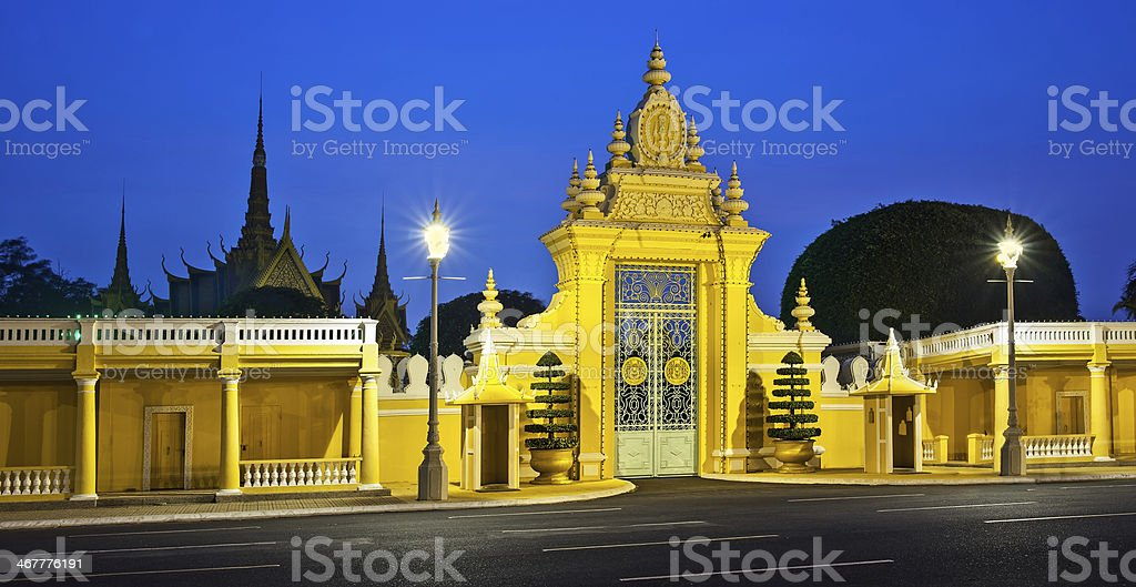 Royal Palace and Silver pagoda, Phnom Penh, Attractions in Cambodia. stock photo