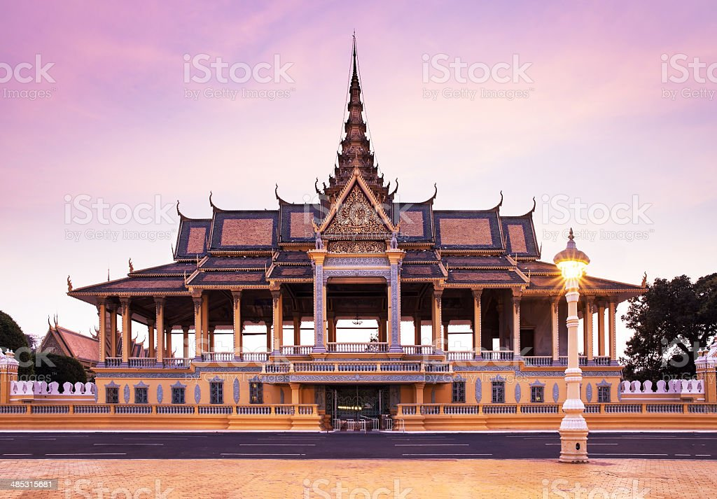 Royal Palace and Silver pagoda, Phnom Penh, Cambodia stock photo