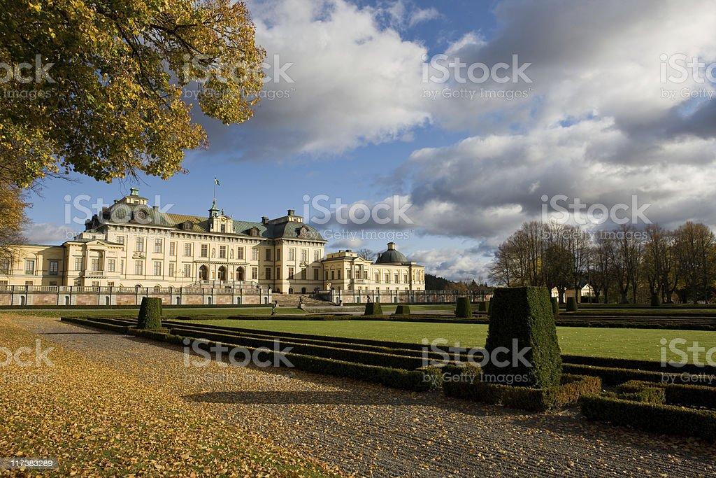 Royal Palace at Drottningholm stock photo