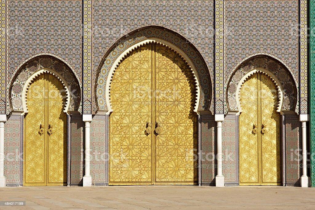 Royal Palace at Fez - Morocco stock photo