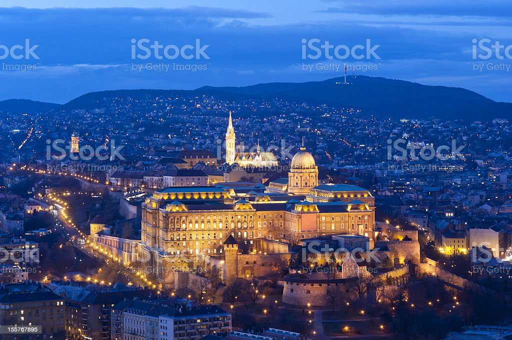 Royal Palace, Budapest (Hungary) stock photo
