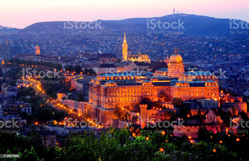 Royal Palace Budapest stock photo