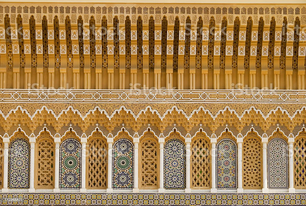 Royal Palace Fez Morocco royalty-free stock photo