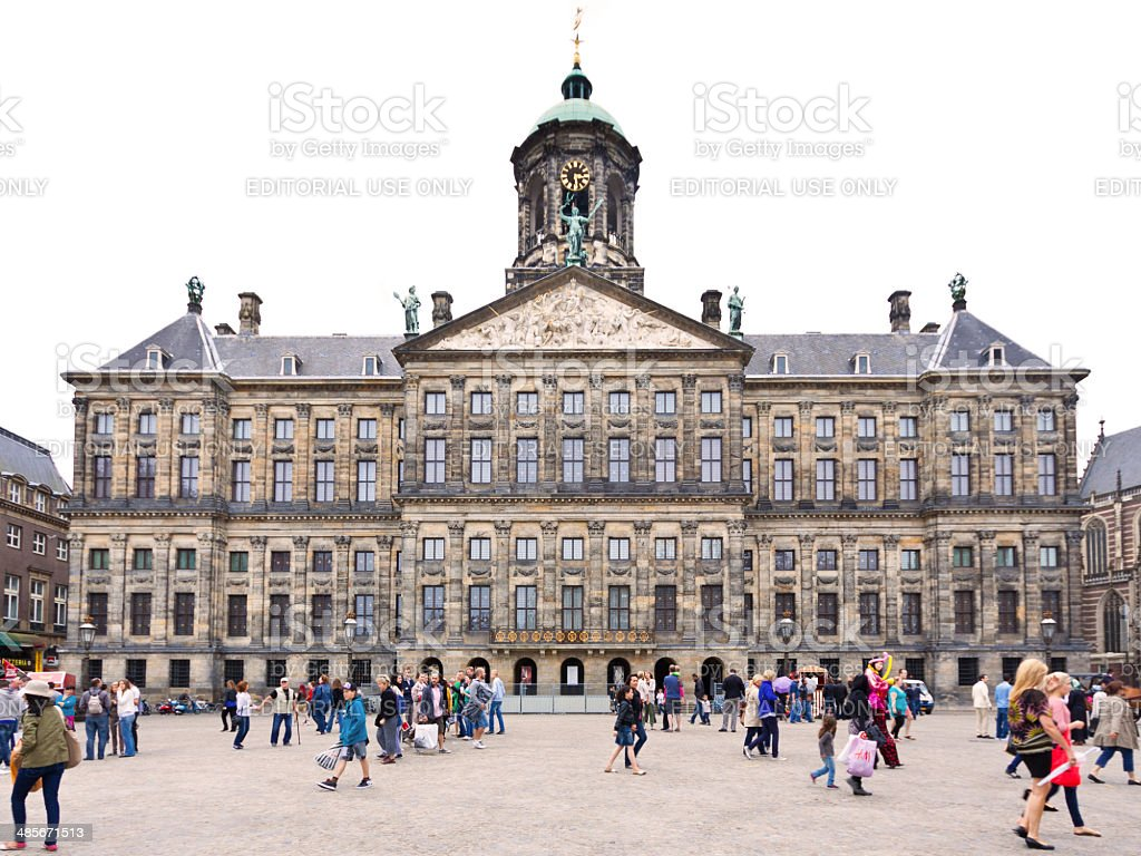 Royal Palace in Amsterdam, The Netherlands. stock photo