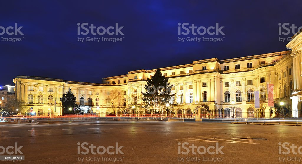 Royal Palace in Bucharest, Romania stock photo