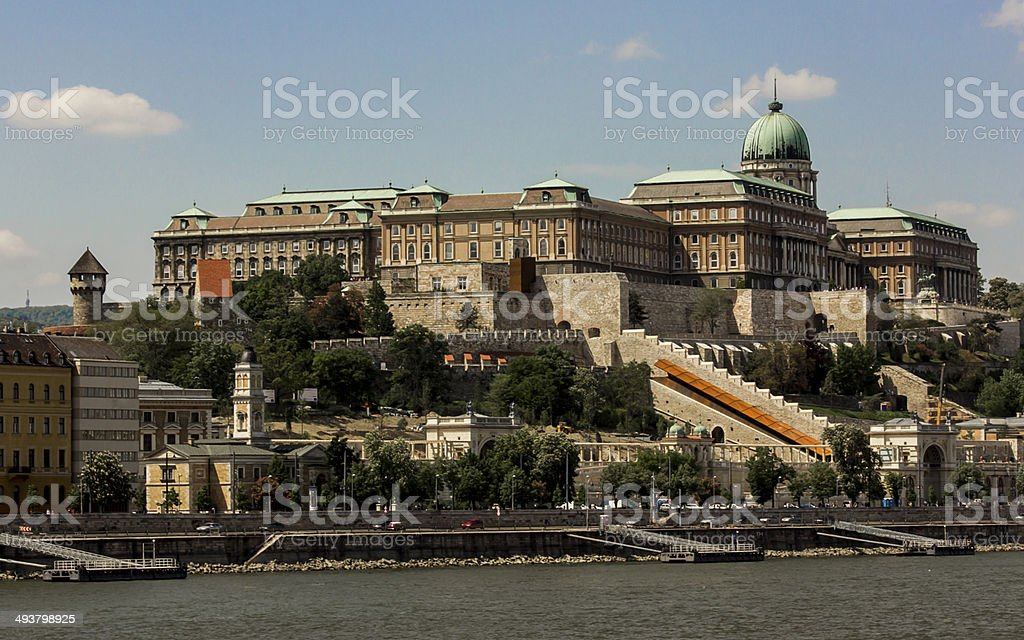 Royal Palace in Budapest, Hungary royalty-free stock photo