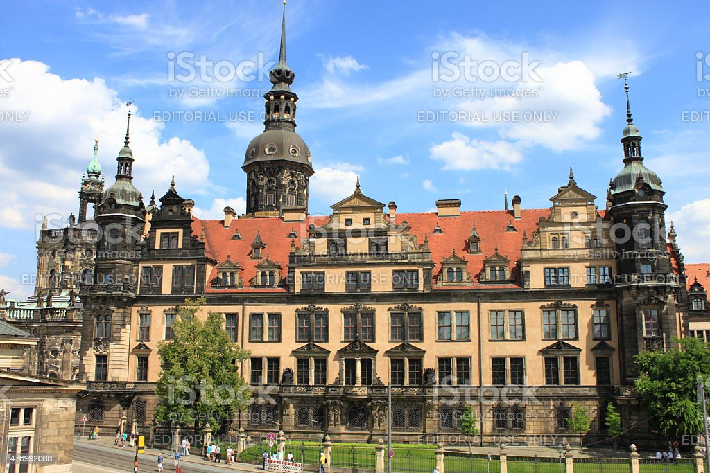 Royal Palace in Dresden stock photo