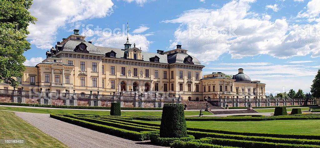 Royal Palace in Drottningholm stock photo