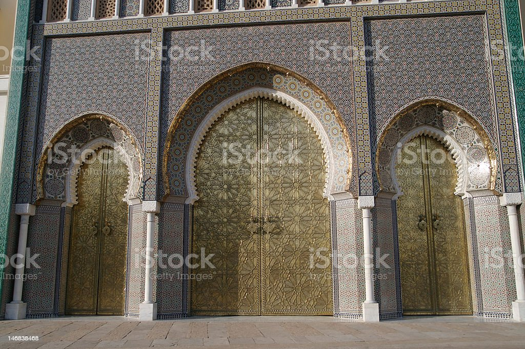 Royal Palace in Fez royalty-free stock photo
