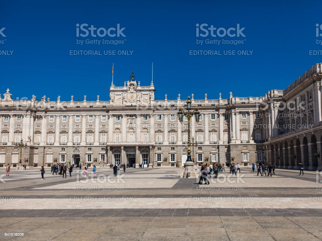 Royal Palace in Madrid, Spain stock photo