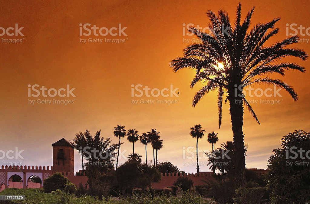 Royal palace in Marrakech stock photo