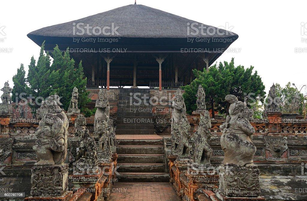 Royal palace, Klungkung, Bali, Indonesia stock photo