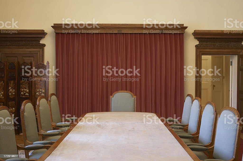 Royal Palace meeting Room royalty-free stock photo
