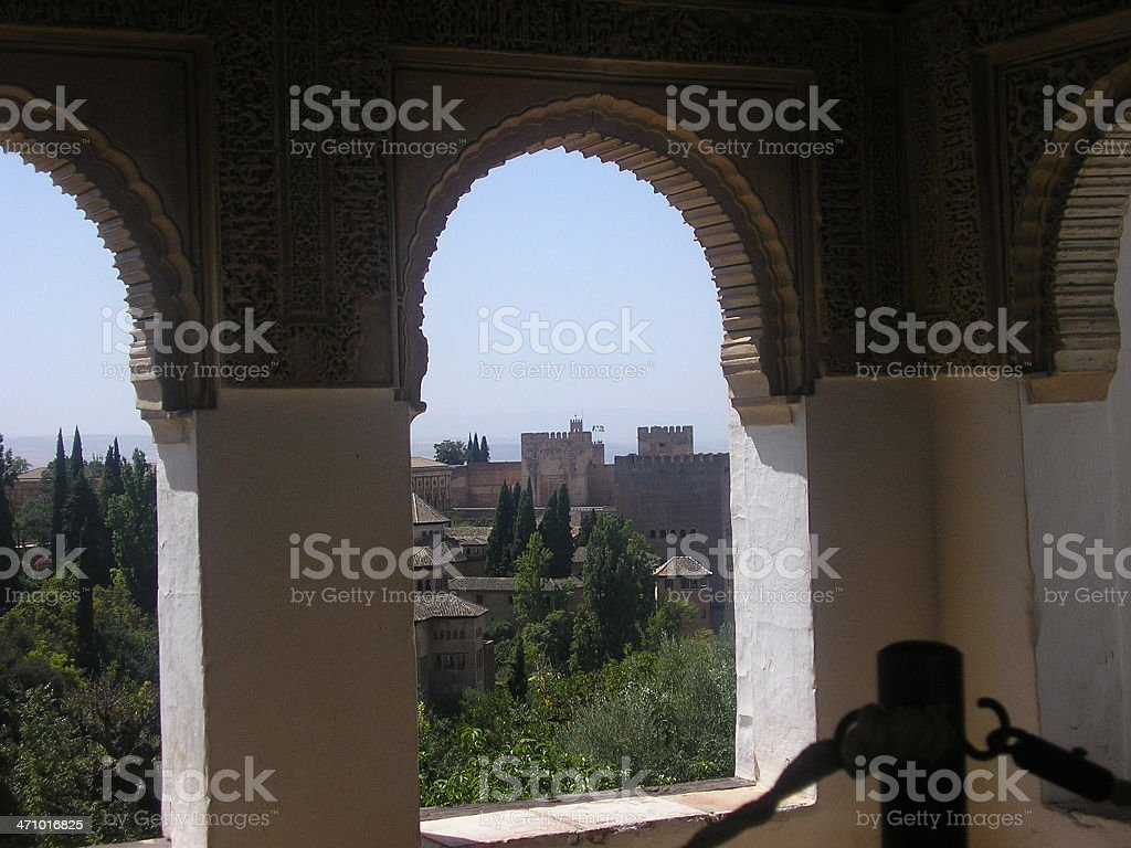 MT - Royal Palace of Alhambra royalty-free stock photo