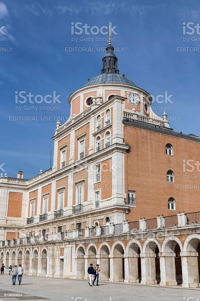 Royal Palace of Aranjuez, located in the Royal Site stock photo