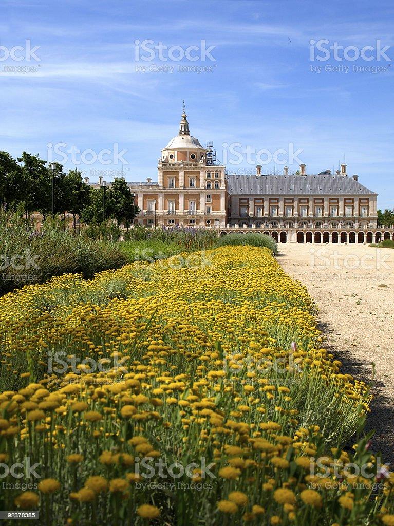 Royal Palace of Aranjuez stock photo