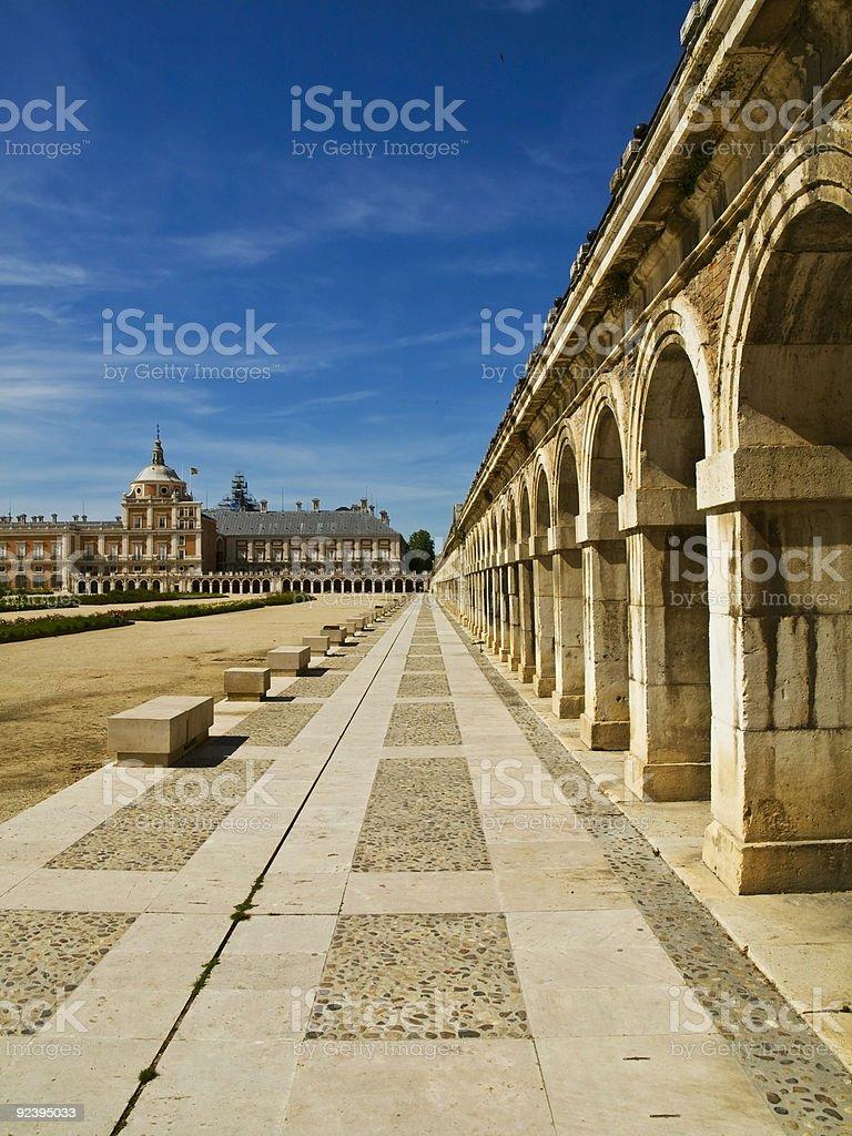 Royal Palace of Aranjuez royalty-free stock photo