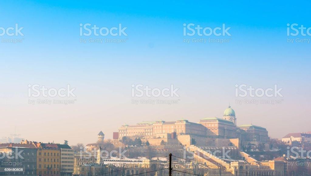 Royal Palace of Buda at winter - Budapest, Hungary stock photo