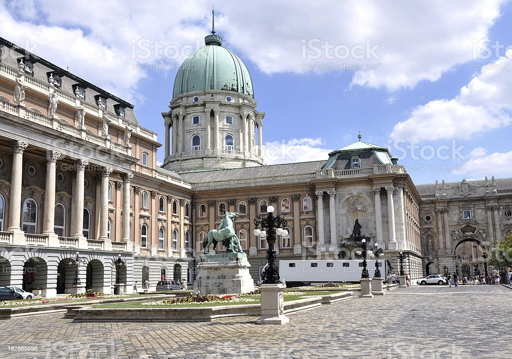 Royal Palace of Buda, Budapest, Hungary stock photo