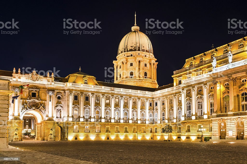Royal Palace of Buda, Budapest, Hungary royalty-free stock photo