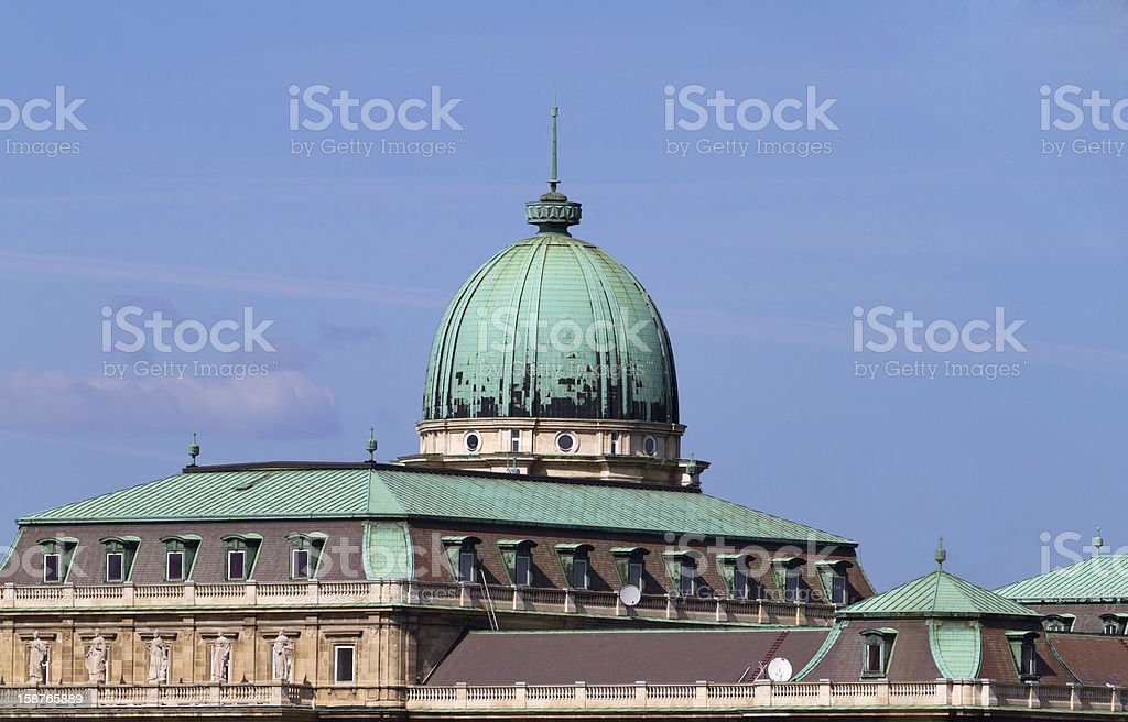 Royal Palace of Buda, Budapest stock photo