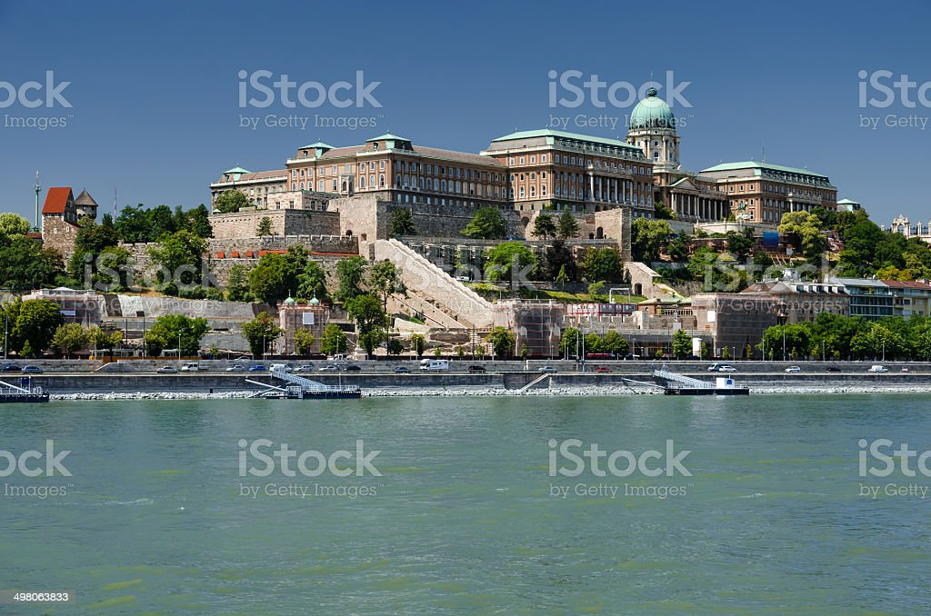 Royal Palace of Buda, Danube River, Budapest stock photo