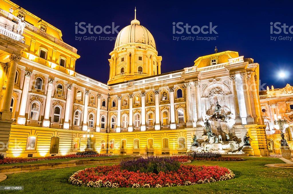 Royal Palace of Buda, Danube River, Budapest royalty-free stock photo
