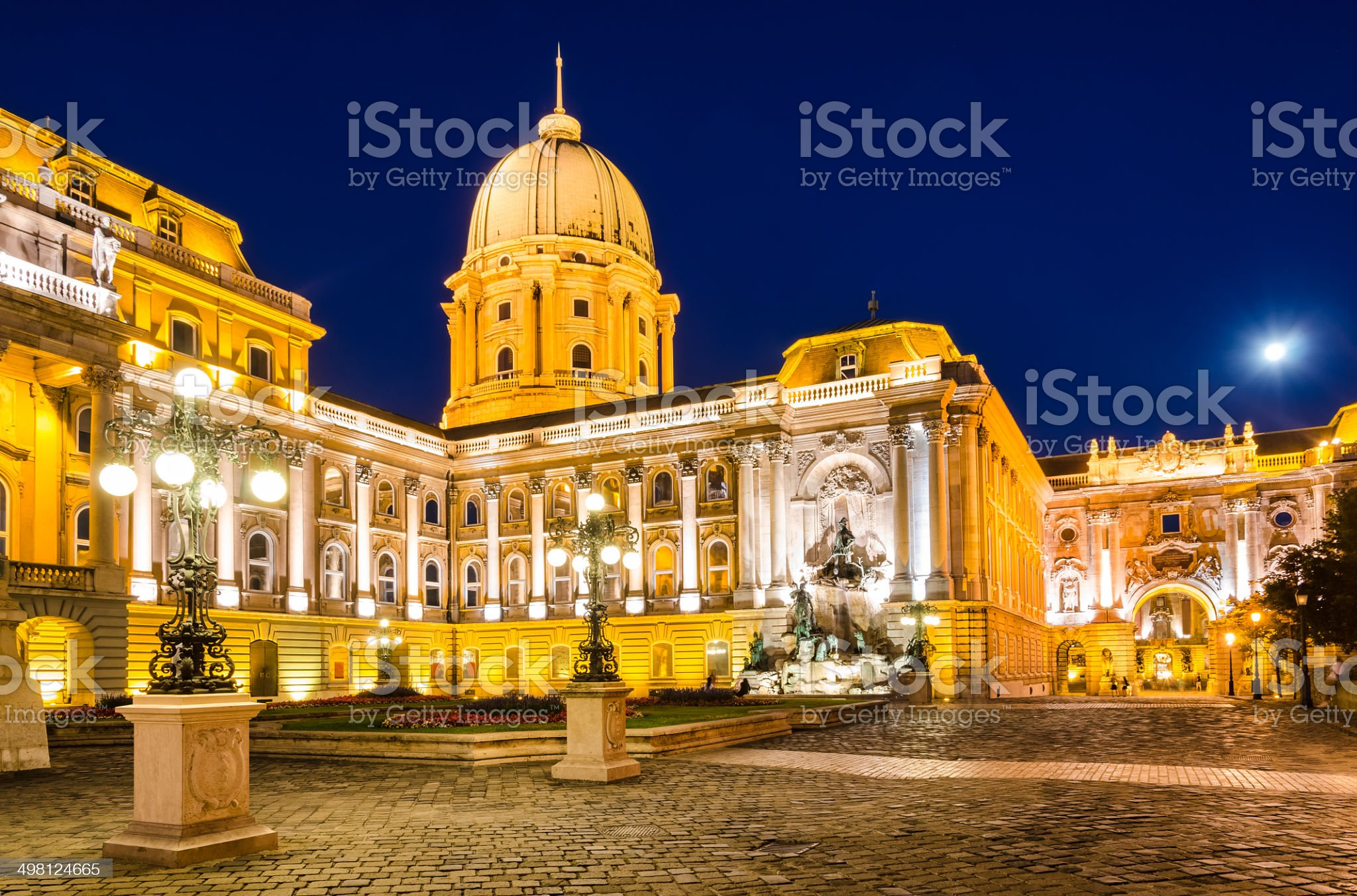 Royal Palace of Buda, Danube River, Budapest royalty-free stock photo