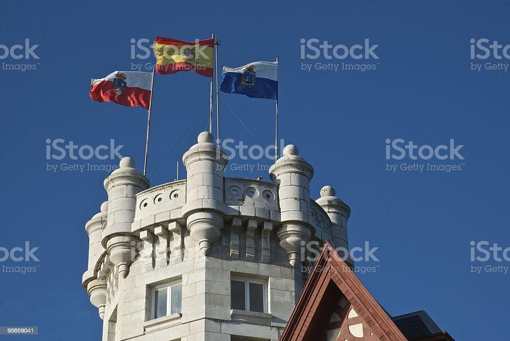 Royal Palace of La Magdalena (Santander - Spain) stock photo
