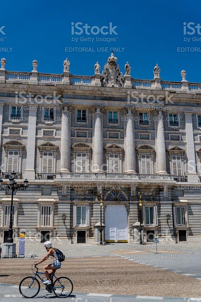 Royal Palace of Madrid, Madrid, Spain stock photo