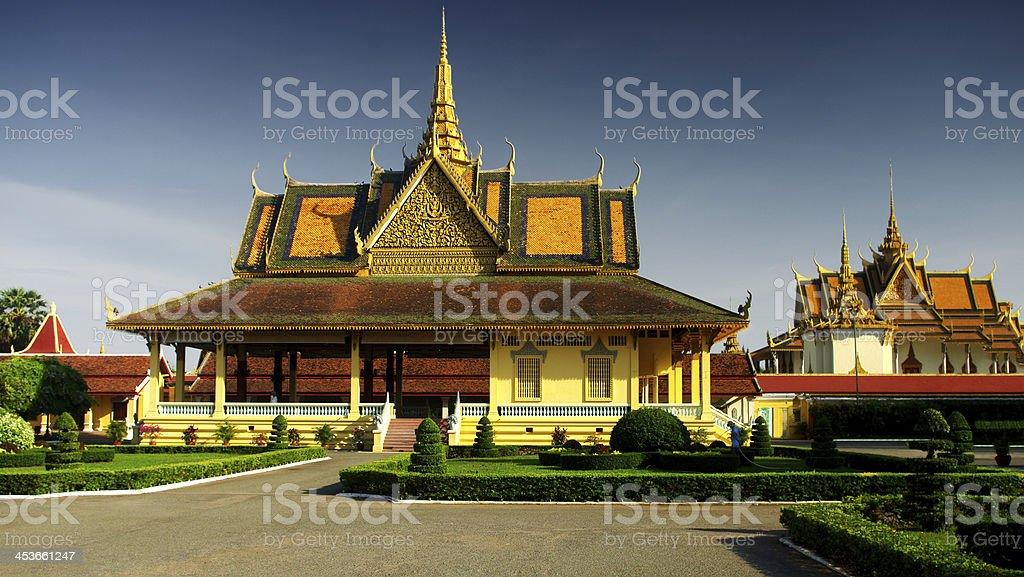royal palace of Phnom Penh royalty-free stock photo