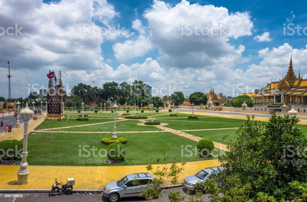Royal Palace Park In Phnom Penh, Cambodia stock photo