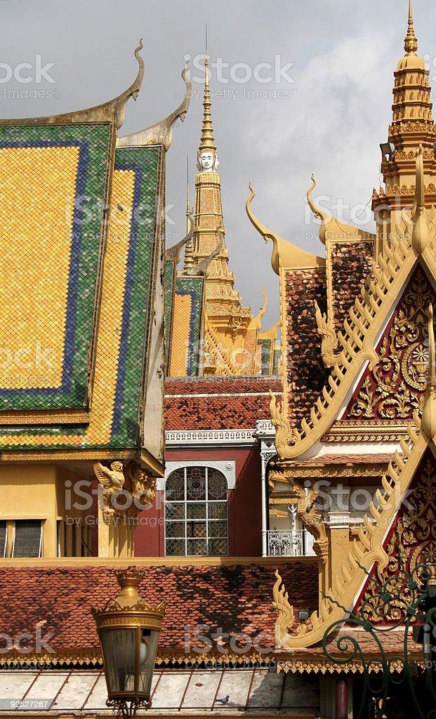 royal palace Phnom Penh Cambodia Asia royalty-free stock photo