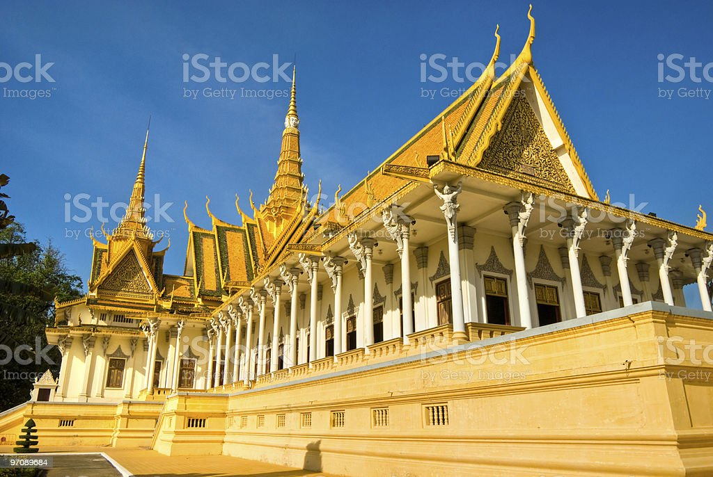 Royal Palace, Phnom Penh, Cambodia. stock photo